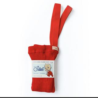 キャラメルベビー&チャイルド(Caramel baby&child )の◇新品未使用◇SILLY Silas 肩紐つきタイツ RED 1〜2y(靴下/タイツ)