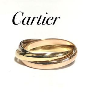 Cartier - カルティエ Cartier K18YG PG WG トリニティ リング 54号