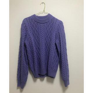 ダブルクローゼット(w closet)のwcloset ニット 紫(ニット/セーター)