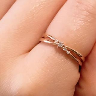 カナルヨンドシー(canal4℃)のピンクゴールド  ダイアモンドリング (リング(指輪))