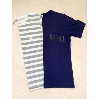 マーガレットハウエル(MARGARET HOWELL)のMHL. ロゴTシャツ 2枚セット Mサイズ(Tシャツ/カットソー(半袖/袖なし))