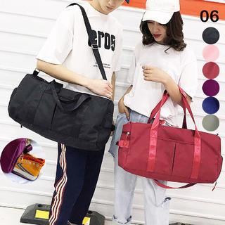 ♥ スポーツバッグ 男女兼用 ボストンバッグ ジムバッグ 防水ポケット付(ボストンバッグ)