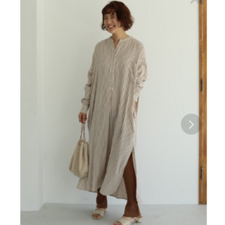 TODAYFUL - 新品 TODAYFUL ストライプシャツドレス キナリ 38