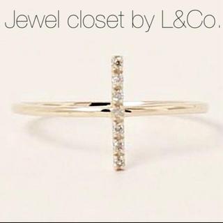 agete - 【Jewel closet by L&Co.】K10ダイヤモンド クロスリング