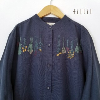 merlot - 最新作*フィリル ドライフラワー刺繍ワンピース