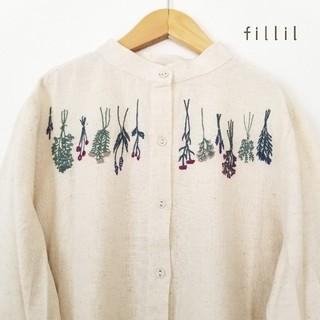 merlot - 最新作*fillil ドライフラワー刺繍ワンピース