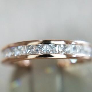 9号 プリンセスカットフルエタニティリング 最高級sonaダイヤモンドリング(リング(指輪))