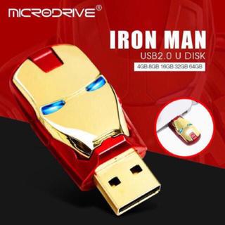 アイアンマン USBメモリー 16GB スライド式 目がLEDライト