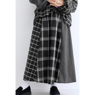 merlot - メルロー パッチワークギャザースカート