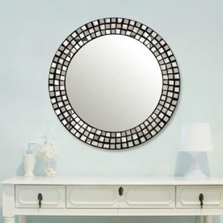 フランフラン(Francfranc)の新品未使用Francfranc黒シェル サークル ウォールミラー壁掛け鏡(壁掛けミラー)