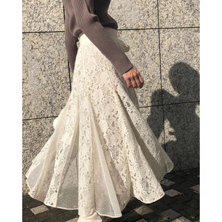 Rirandture - 【新品未使用】レーススカート付ニットスカート