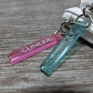 クリニーク(CLINIQUE)の新品 化粧ポーチ ピンク グリーン 化粧小物(その他)