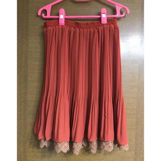 THE EMPORIUM - 膝丈シフォンプリーツスカート