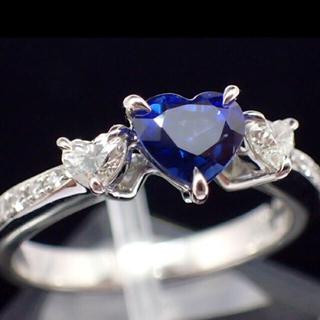 コーンフラワーブルーサファイア ハートシェイプ1ct↑ 指輪(リング(指輪))