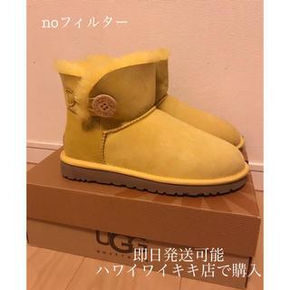 アグ(UGG)の新品 UGG ミニベイリー ショートムートン ハワイ イエロー 黄色(ブーツ)
