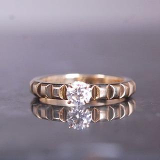 ブシュロン(BOUCHERON)のブシュロン クルドパリ ソリテール ダイヤ  リング 指輪 K18 YG(リング(指輪))