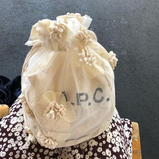 ロキエ(Lochie)の韓国 ヴィンテージ フラワー 巾着バッグ(ショルダーバッグ)
