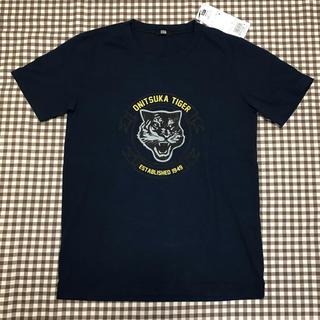 オニツカタイガー(Onitsuka Tiger)のオニツカタイガー ONITSUKA TIGER Tシャツ ネイビー トラ メンズ(Tシャツ/カットソー(半袖/袖なし))