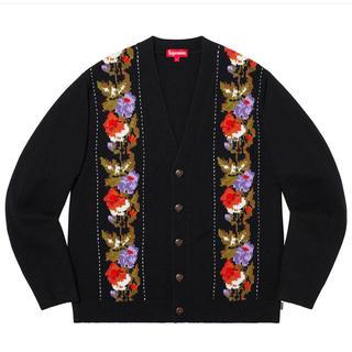 Supreme - Supreme Floral Stripe Cardigan Black L
