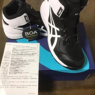 アシックス(asics)のアシックス 新品  安全靴  ウィンジョブ CP304BOA黒/白26.5センチ(スニーカー)