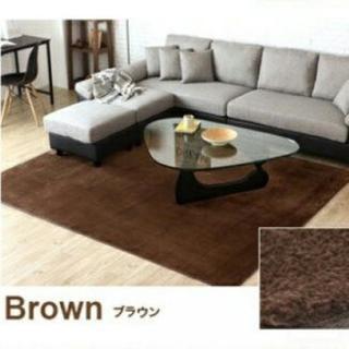 新品! 3畳タイプ☆ふわっふわなさわり心地☆カーペット/絨毯/ラグ/ブラウン