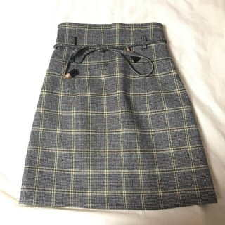 Lily Brown - lilybrown グレンチェックミニスカート