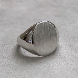 シルバー925 丸型カレッジリング silver925 艶消