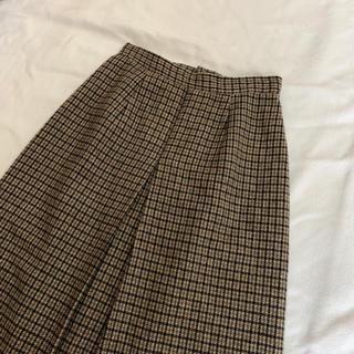 ロキエ(Lochie)のvintage チェック柄のクラシカルレトロスカート(ひざ丈スカート)