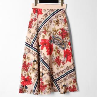GRACE CONTINENTAL - ボタニカルスカーフスカート