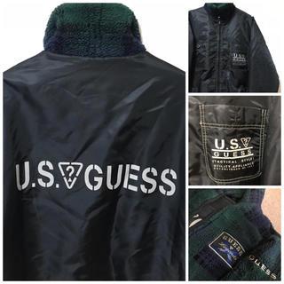 ゲス(GUESS)のGUESS USA ボアジャケット(ブルゾン)