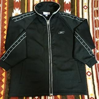 リーボック(Reebok)のReebok ジャージ 上 ブラック 130サイズ リーボック スポーツウェア(ジャケット/上着)