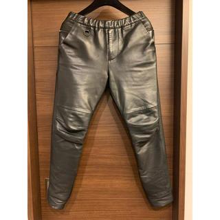 サンシー(SUNSEA)のSUNSEA 14AW leather flea market pants(その他)