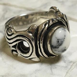 ホワイトバッファロー silver925(リング(指輪))