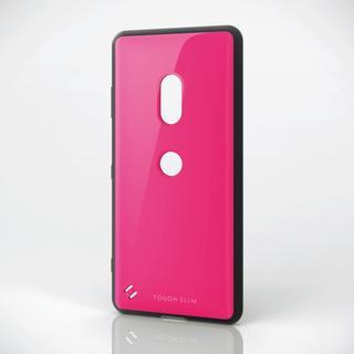 エレコム(ELECOM)のXperia XZ3(SO-01L/SOV39)用耐衝撃ケース ピンク(Androidケース)