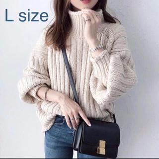 H&M - 未使用 H&M チャンキーニット リブタートルネックセーター