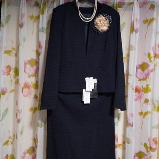 RU - ruセレモニースーツ  ツイードセットアップ 大きめ  新品未使用  仕事用兼