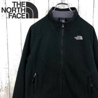 THE NORTH FACE - 【ノースフェイス 】刺繍ロゴ☆ジップフリース☆L☆黒☆ウインドウォール