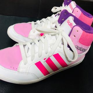 adidas - adidas ハイカットスニーカー 23.5cm
