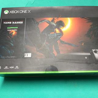 マイクロソフト(Microsoft)のXbox One X(シャドウ オブ ザ トゥームレイダー同梱版)/XBO/CY(家庭用ゲーム機本体)
