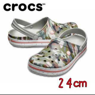 クロックス(crocs)の新品 24㎝ クロックス クロックバンド グラフィック 3.0 クロッグ(サンダル)