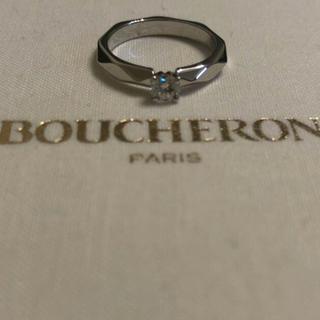 ブシュロン(BOUCHERON)の美品BOUCHERONプラチナダイヤモンドファセットソリテールリング(リング(指輪))