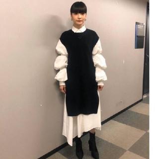 ENFOLD - 新品タグ付  ENFOLD 今季コレクションワンピース 黒×白36