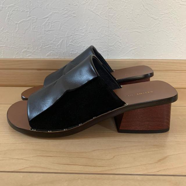 celine(セリーヌ)の未使用 CELINE セリーヌ サンダル レザー×スエード 35 黒 レディースの靴/シューズ(サンダル)の商品写真