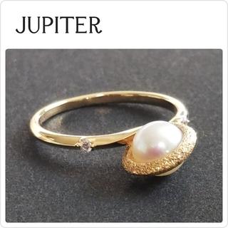 ジュピターゴールドレーベル(jupiter GOLD LABEL)の未使用♡定価59400♡JUPITER planet pearl リング(リング(指輪))