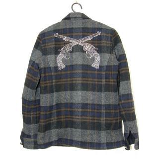ロアー(roar)のroarロアー2丁拳銃スワロスタッズプリマロフトチェックCPOシャツジャケット(カバーオール)