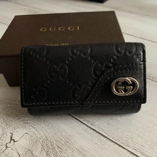 Gucci - グッチ GUCCI 6連キーケース レザー 黒 本革 メンズ レディース