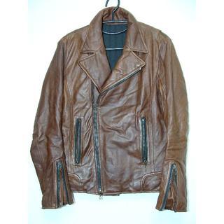 シェラック(SHELLAC)のSHELLACシェラックシープスキン羊皮革レザー中綿ライダースブルゾン(ライダースジャケット)