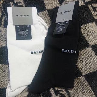 バレンシアガ(Balenciaga)のBALENCIAGA バレンシアガ 新品 本物 レア ロゴ ソックス 靴下 2足(ソックス)