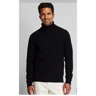 UNIQLO - 今期 ユニクロ プレミアムラムタートルネックセーター 黒
