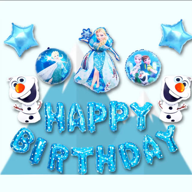 Disney(ディズニー)のアナと雪の女王 お誕生日バルーン 20点セット♪ エンタメ/ホビーのおもちゃ/ぬいぐるみ(キャラクターグッズ)の商品写真
